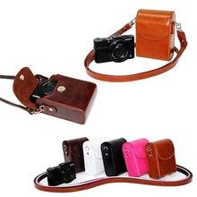 Funda para cámara de cuero PU Vintage para Canon G9X G7X G7X Mark II G7XII G7X III SX730 SX700 SX720 S90 SX260 SX240 SX275 S90 S120 S110
