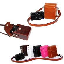 Vintage PU Leather Camera Case For Canon G9X G7X G7X Mark II G7XII G7X III SX730 SX700 SX720 S90 SX260 SX240 SX275 S90 S120 S110