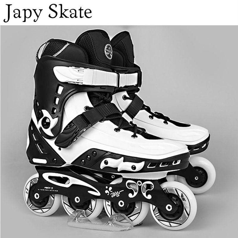 Japy Skate Original Freestyle MT Professional Slalom Inline Skates Adult Roller Skating Shoe Sliding Free Skating Patines Adulto