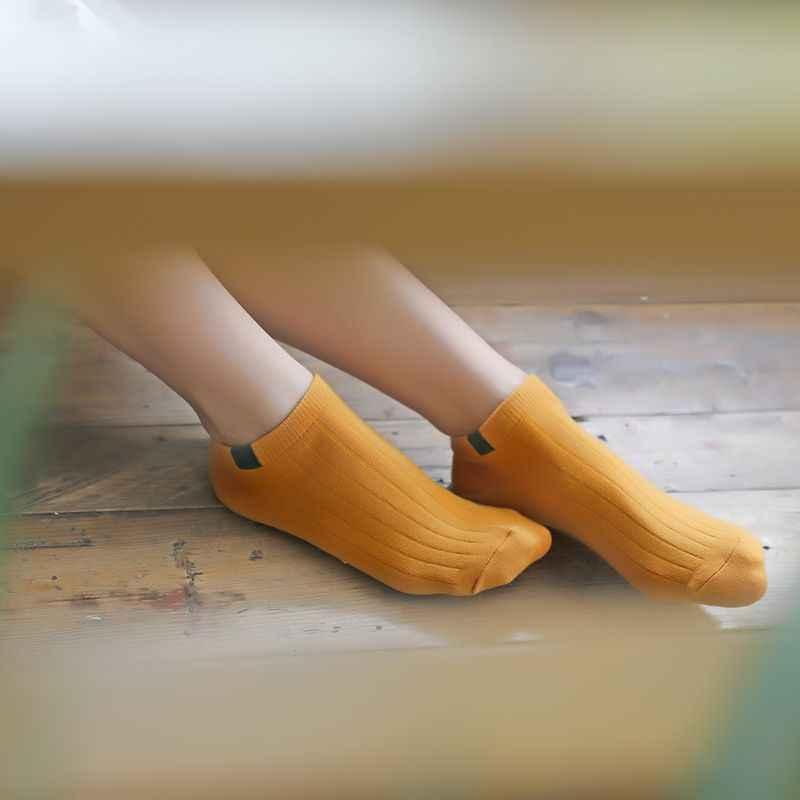 Popsocket Kadınlar Dört Mevsim Çorap Katı Şeker Renk Ter Deodorant Tatlı Pamuk Görünmez Tekne Çorap
