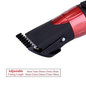 Image 3 - 4 30mm elektryczna maszynka do strzyżenia włosów wodoodporna maszynka do włosów bezprzewodowa ścinanie włosów maszyna Barbershop Professional Haircutter Kids Adult