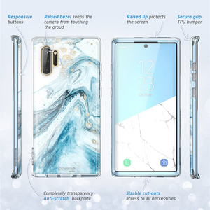 Image 3 - For Samsung Galaxy Note 10 Case (2019 Release) i Blason Cosmo Full Body Glitter Marble Cover WITHOUT Built in Screen Protector