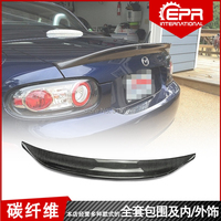 For MX5 NC NCEC Roster Miata EPA Type 3 2009 2015Carbon Fiber Rear Roof Spoiler Wing Trunk Lip Boot Cover Car Styling