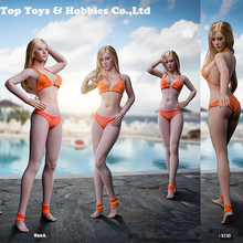 In stock 29.4cm hight 1/6 Pale /suntan TBLeague Super Flexible Female long leg Seamless Body S32A S33B only body without Head 1 6 ph sexy female super flexible seamless body medium breast suntan pale action figure doll toys without head for kumik head