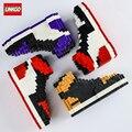 Linkgo Мини Строительные блоки для детей баскетбольные кроссовки Модель Legao AJ кроссовки сборка-кирпичи сборка