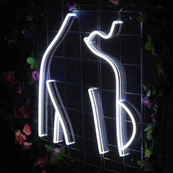 Neon Light Sign Custom  Hanging Wall Indoor Sexy Woman's Body Art Decorations Nature White Transparent Acrylic Led Neon Sign недорого