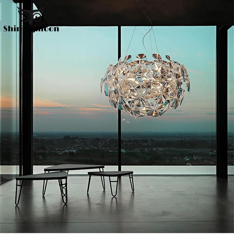 Işıklar ve Aydınlatma'ten Kolye ışıkları'de Kuzey avrupa lüks kristal kolye ışıkları Modern otel salonu ana yatak odası dekorasyon kolye lamba parlaklık Luminaria title=