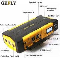 GKFLY автомобиль скачок стартер 16000 мАч 12V 600A Портативный пусковое устройство автомобиля Зарядное устройство для автомобиля Батарея усилител...