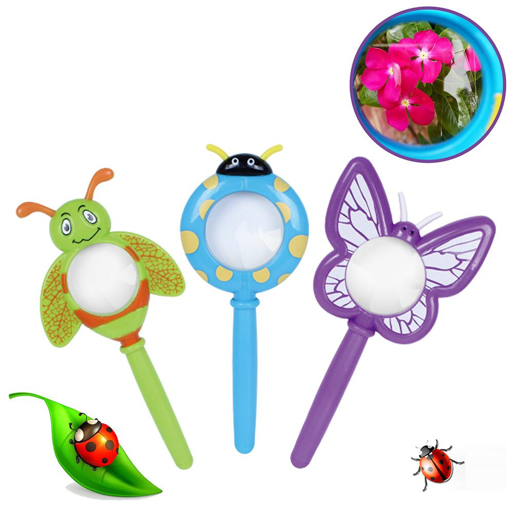 Cartoon Handheld Insect Kids Magnifier Detective Explorer Tool Kids Educational Toy Magnifier Ladybug Butterfly