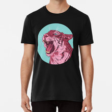 Magenta tiger T shirt animal tiger wild nature big cat magenta color pop art portrait angry(China)