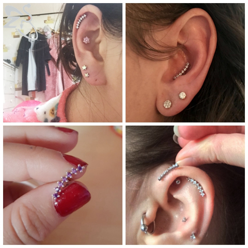 ZS Curve Studs Earrings