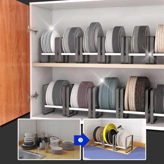 Kitchen Organizer Cabinet Plates Dishes Drying Rack Holder Drainer Goods For the Kitechen Storage And Order Accessories 3