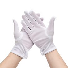 4 2 1Pairs Unisex Gloves Black White Etiquette Thin Gloves Stretch Sunscreen Gloves Dance Tight Jewelry Gloves Driving Gloves cheap CN(Origin) 70-100g A9141 Other Cleaning Cotton