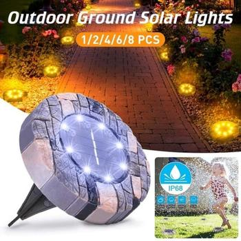 8 LED Solar Lawn Lamp Solar Power Buried Light Under Ground Lamp Outdoor Path Way Garden Decking Light White Warm White|Solar La cmi leh 42126 solar 1 led warm white light lawn lamp garden light white green page 3 page 5 page 2 href