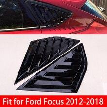 CITALL – couvercle de fenêtre noir brillant, 2 pièces, panneau de ventilation latérale, garniture autocollante adaptée à la Ford Focus MK3 Hatchback 2012 – 2018