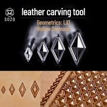 SOZO LX1 geometry Hollow diamentowe narzędzie do tłoczenia skóry z rzeźbionym wzorem 304 ze znaczkami Streel