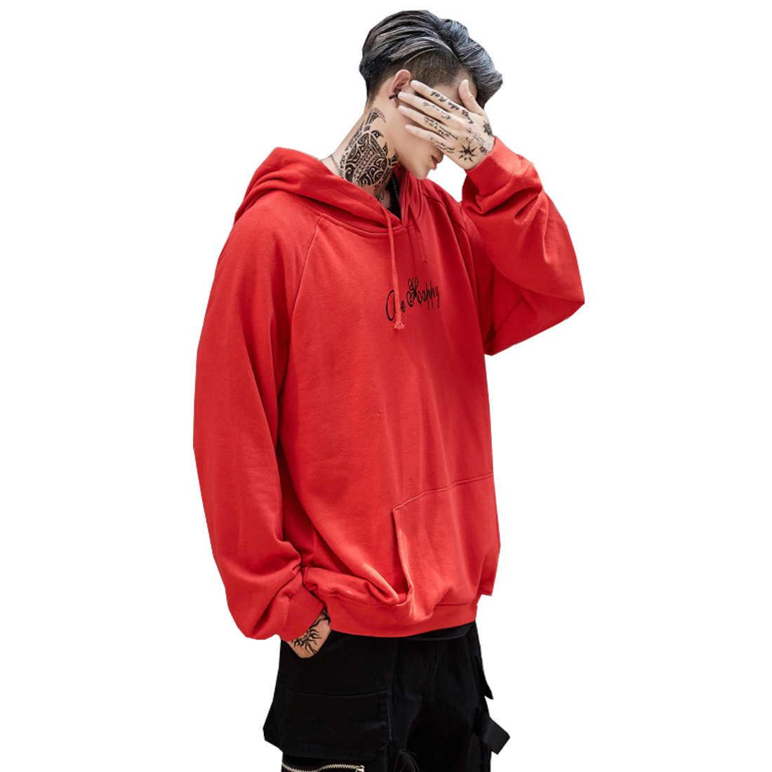 Meihuida 남성 캐주얼 오버 사이즈 루즈 후드 티 스웨터 스마일 프린트 헤드웨어 까마귀 힙합 streetwear 의류