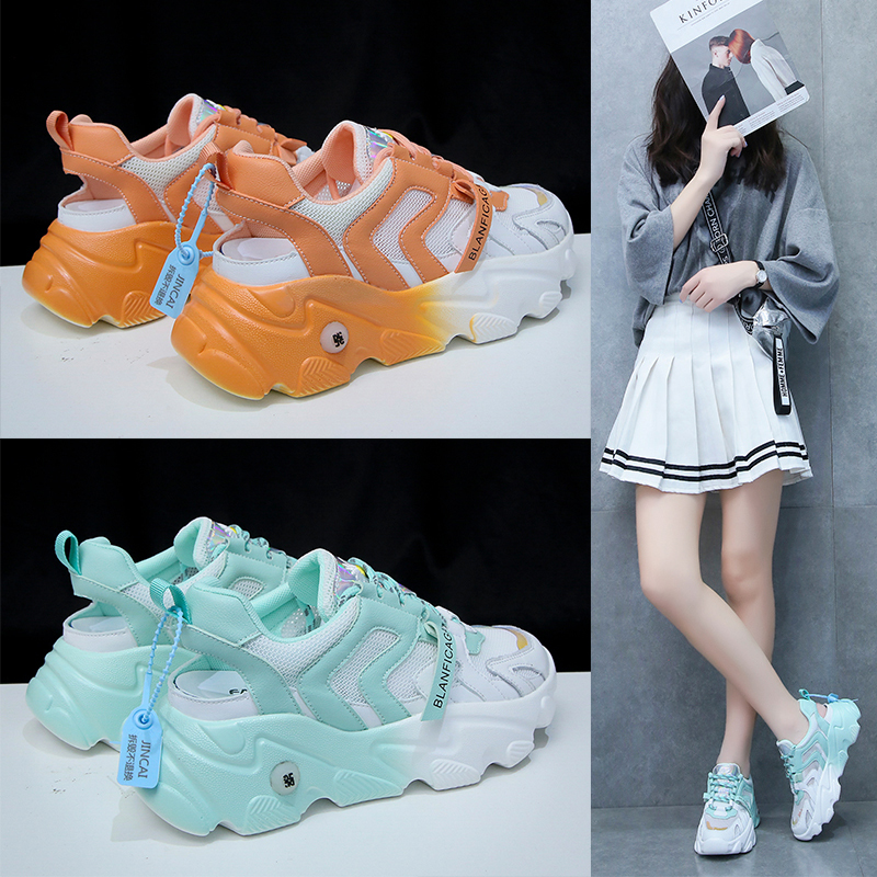 Women Casual Shoes Trend Student Shoes Women Fashion Sneakers Mesh Walking Shoes Women Vulcanize Shoes Breathable Openwork Shoes
