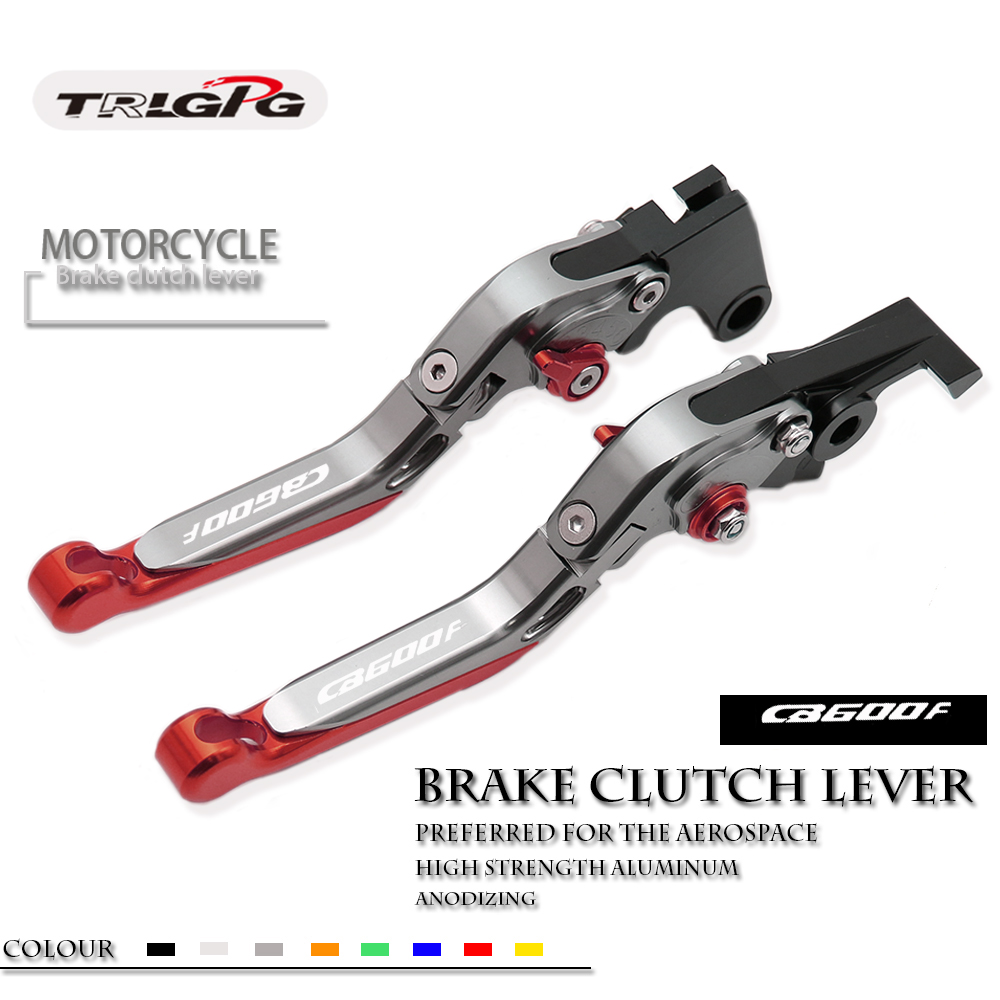 Brake Clutch Levers For <font><b>HONDA</b></font> CB600F CB <font><b>600</b></font> F <font><b>Hornet</b></font> 2007-2013 2012 2011 <font><b>2010</b></font> Extendable Folding Lever Motorcycle Adjustable image