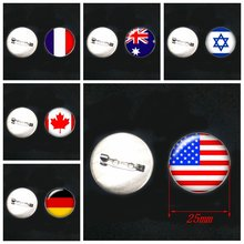 1 шт! 2020 Новые популярные классические значки с флагом мира