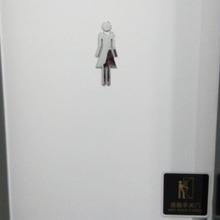 Znak WC toaleta Loo Signage łazienka WC drzwi znak ścienny mężczyzna i kobieta plastikowa płytka znak zachęty tanie tanio CN (pochodzenie) Tradycyjny chiński Nieregularne Decoration
