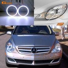 Excellent Ultra bright COB led angel eyes kit For Mercedes Benz R Class W251 R320 R350 R500 R63 AMG 2006-2009 Halogen headlight