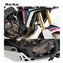 For HONDA CRF1000L (African Twins) 2016-2019 Motorcycle Upper & Lower Crash Bar Engine Guard Bumpers Protector