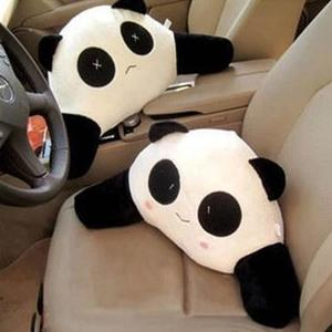 Image 2 - Cartoon Panda Auto Back Support Waist Pillow Cushion Plush Lumbar Pillow for Car Seat Kids Gifts Car Accessories