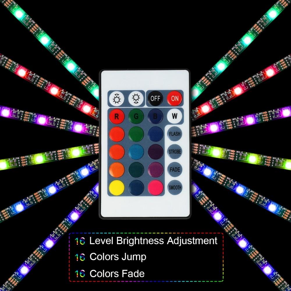 5V LED STRIP, TV Backlight , USB Powered LED strip light ,RGB5050 For 24 Inch-60 Inch TV,Mirror,PC, APP Control Bias 2