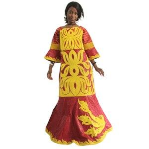 Image 3 - MD 2020 bazin riche דאשיקי נשים שמלת מסורתי אפריקאי שמלות לנשים רקמת דפוס עם אבנים 2020 אפריקה בגדים