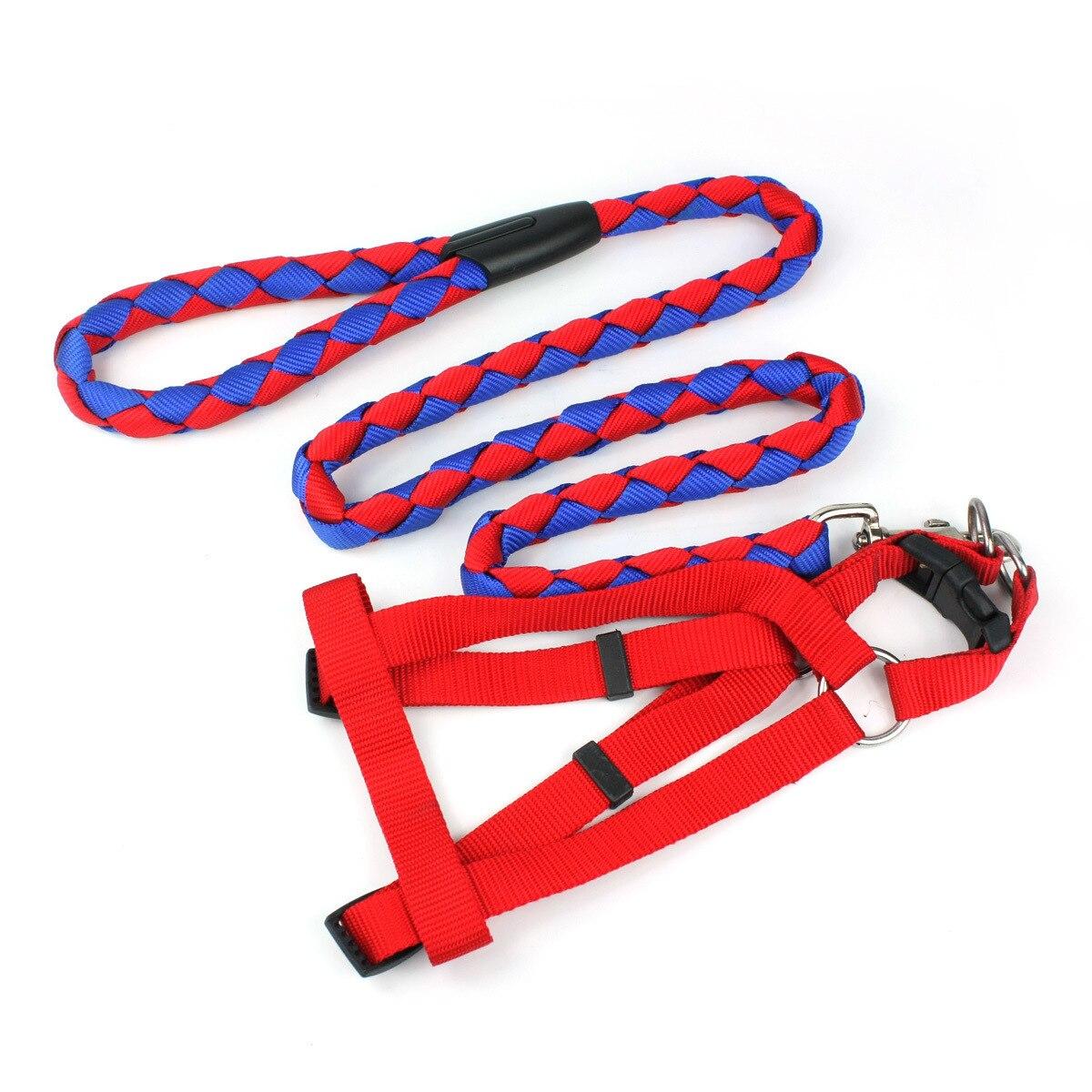 Nylon Medium Weaving Round Belt Chest Unscalable Double Color Dog Pet Nylon Rope Dog Pet Chest Unscalable