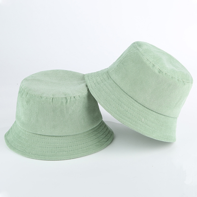 Blank Corduroy Bucket Hat For Women Spring Autumn Plain Men Panama Outdoor Hiking Beach Fishing Cap Sunscreen Female Sunhat Bob