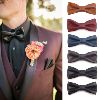 цены PU Leather Men Bowtie Classic Bow tie For Men Women Bowknot Casual Boys Bow Ties Cravats Bow ties For Wedding Party Male Tie