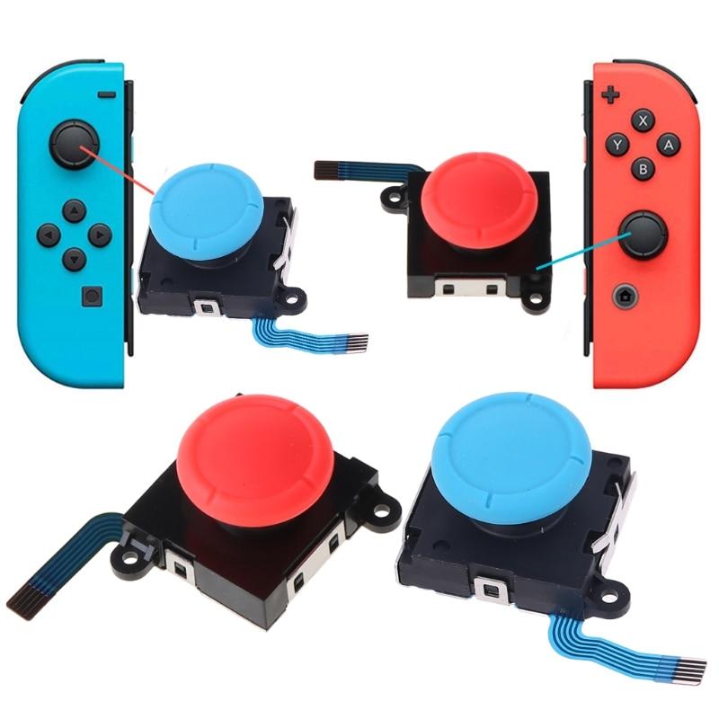 3D аналоговый джойстик для пальца палочки Сенсор запасные части для nintendo switch Joy-Con для ремонта регулятора игровых аксессуаров для NX
