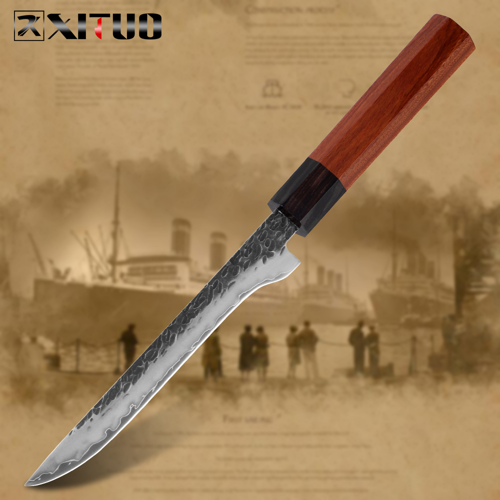 XITUO Boning Knife Three layer Composite Steel Kitchen Chef Knife Handmade Forged Sharp Professional Cleaver Rosewood Handle New|Kitchen Knives|   - AliExpress