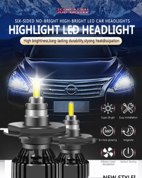 2PCS Blanc H4 LED Car Light Bulbs creed lamp beads-15000LM 6000K bombilla Led Fog Headlight Bulb 70W Auto ampoule Front Headlamp image