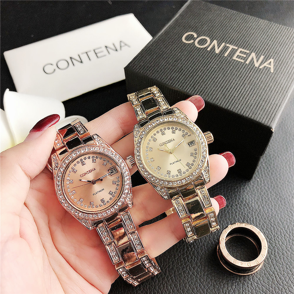 6138 6137 6136 6135 6132 6131 6130Hot Sale Numeral Alloy Watch Small Dial Women's Watch