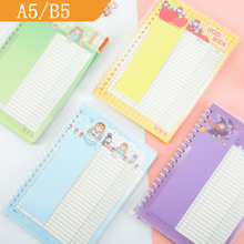 Yisuremia NEW 40 Sheets Kawaii A5 B5 Loose-Leaf Refillable Vocabulary Word Book English Memory Study Notebook School Stationery
