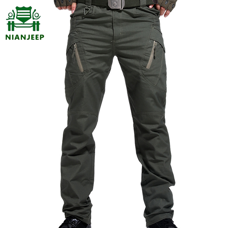 Brand Men's Military Tactical Pants Multi-pocket SWAT Combat Army Trousers Male IX9 Outdoor Waterproof Wear Resistant Cargo Pant