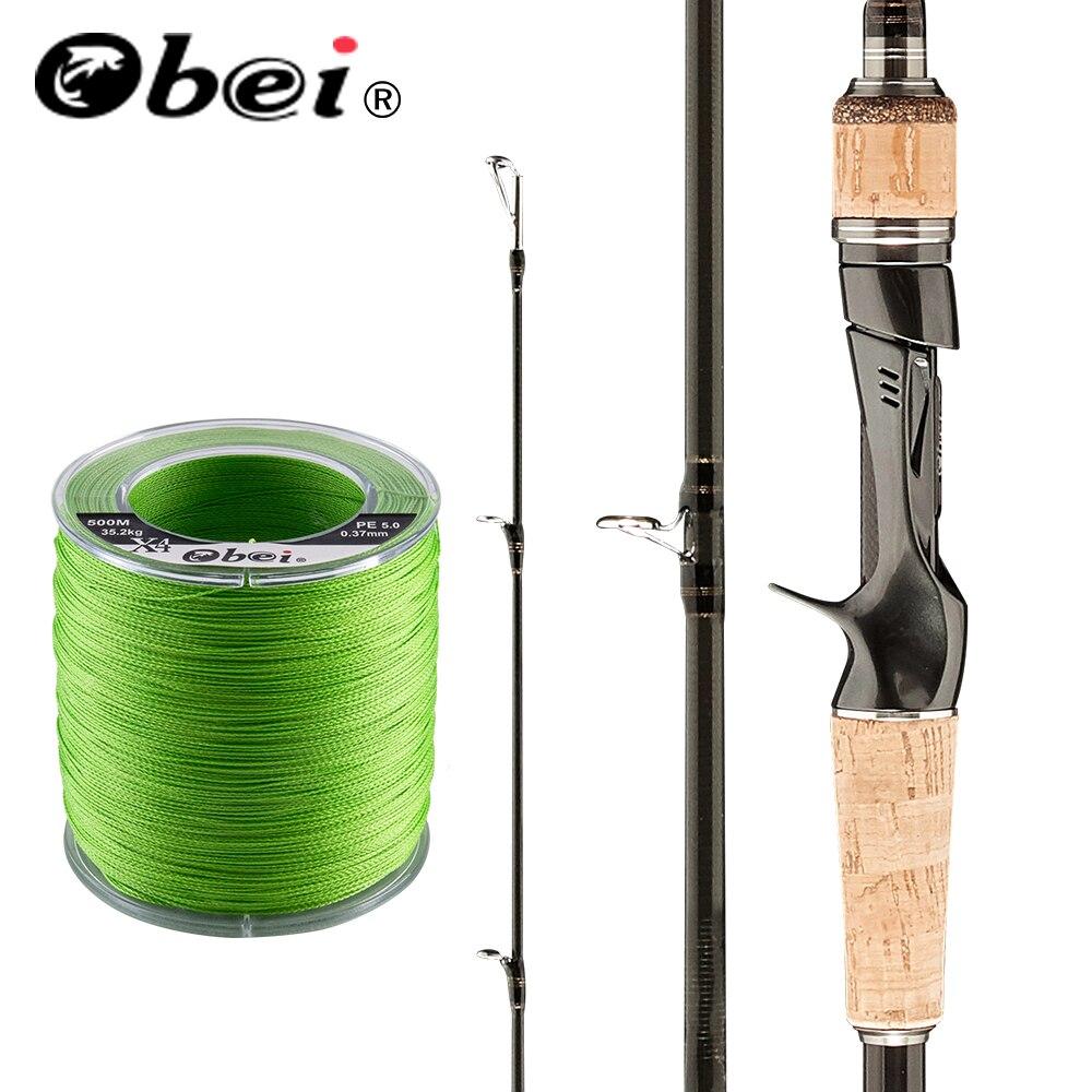 Obei HURRICANE 1.8 2.1 2.4 2.43m Baitcasting Fishing Rod Travel Ultra Light Casting  Lure 5g-40g M/ML/MH Rod Combination
