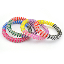 цена на 5cm 100pcs/Lot Rainbow Tie Hairband Hair Rubber Rope Bands Telephone Wire Line Gum Hair Ring  Headband For Women Girl