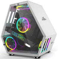 MATX/ITX Desktop Computer Case DIY Dust Proof gaming PC box Monster Type for Gamer for M Atx Size with glass panel