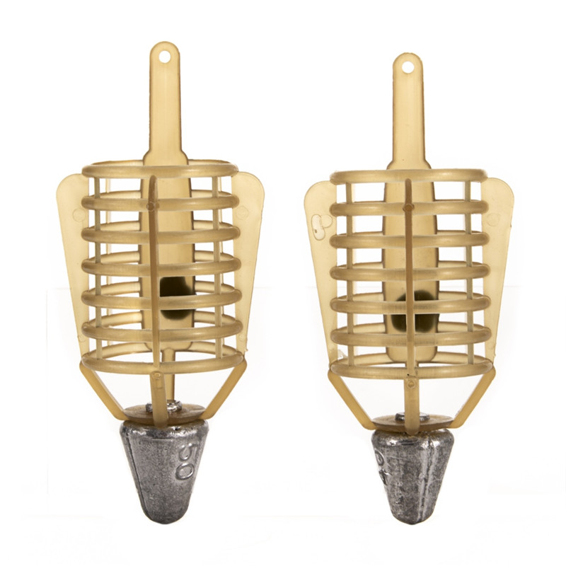 Fishing Bait Cage 20g/30g/40g/50g Connector Sinker Feeder Bait Holder Thrower Carp Fishing Tackle Tool Accessories New