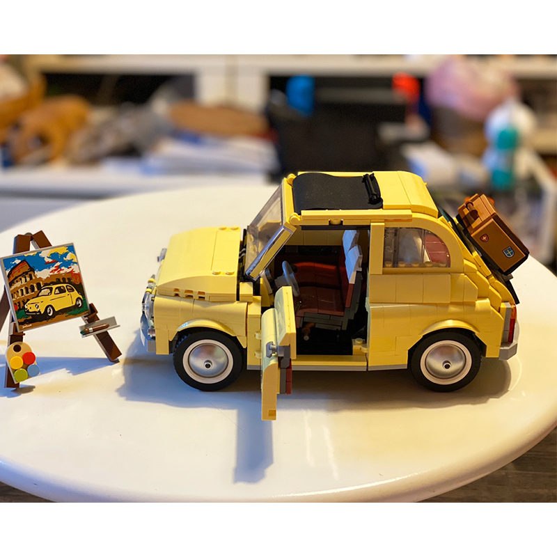 Lepines  Supercar Dom S Dodged 42111 FIATed 500 Car Building Blocks Compatible 10271 Creator Model Children Kids Xmas Gift Toys