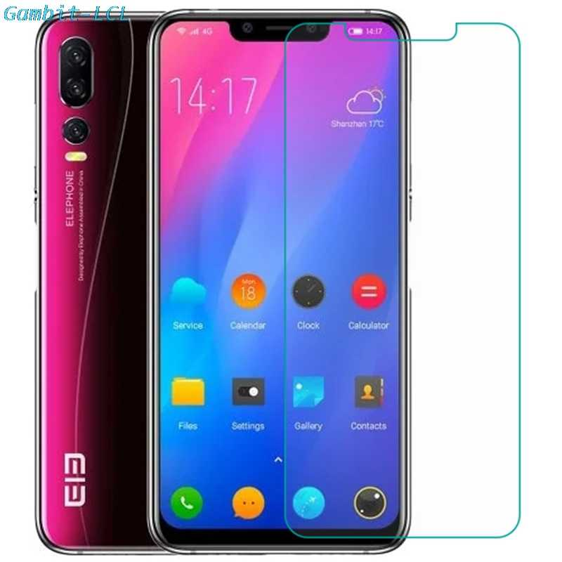 Temperli cam için Elephone A6 Mini A4 Pro A5 lite asker U2 P8 3D Max ekran koruyucu 9H telefon koruyucu cam filmi kapağı