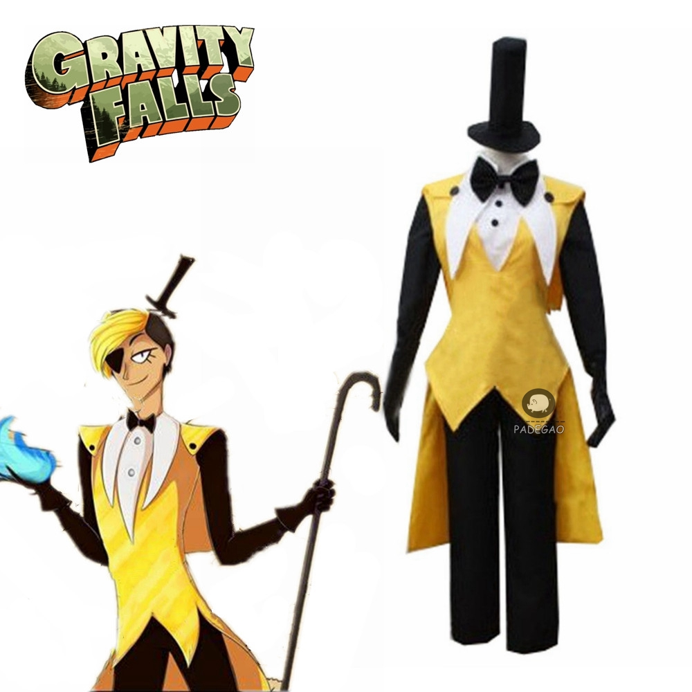Gravity Falls Bill Cipher Cosplay Costume Mystery Attack Outfit Halloween Costumes Bill And Will Cosplay Costume Style 2