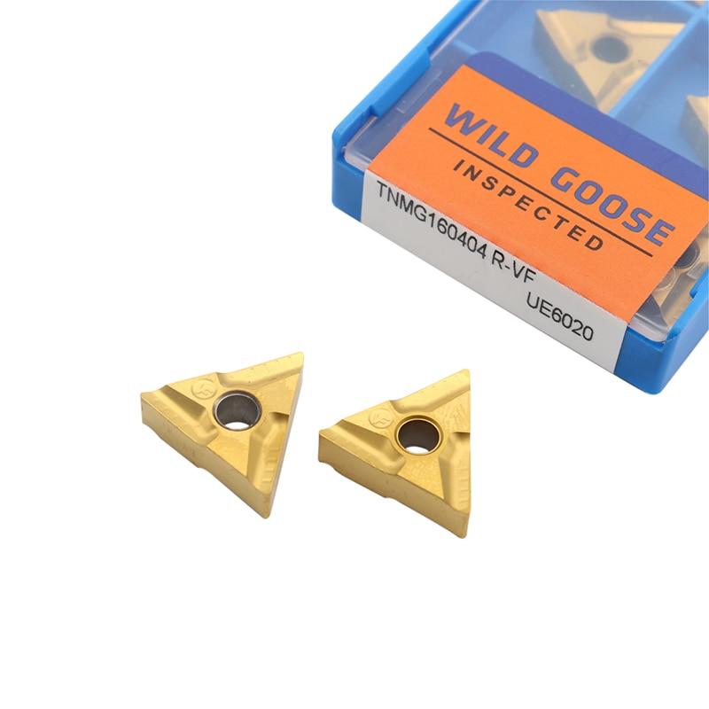 10 STKS TNMG160404 R VF UE6020 Externe Draaigereedschappen Carbide insert Draaibank cutter Tool Tokarnyy draaien insert