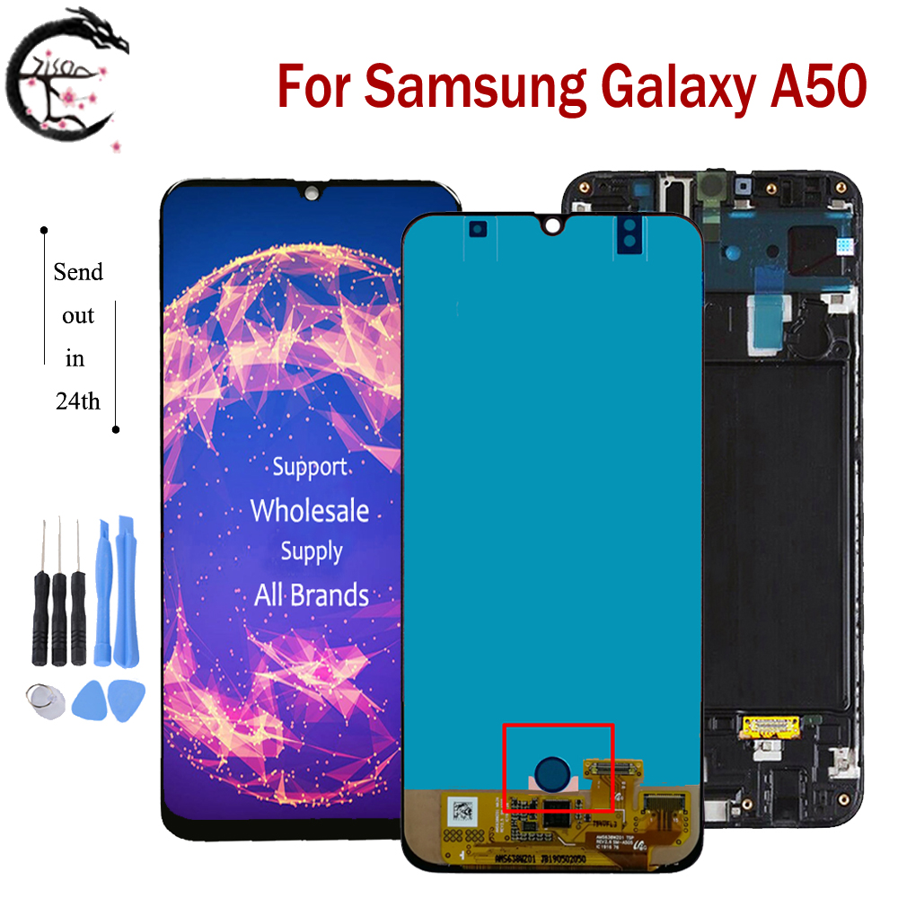 AMOLED LCD For Samsung Galaxy A50 2019 A505 LCD Display Screen Touch Digitizer Assembly SM-A505F/DS A505FN A505GN A505FM A505YN