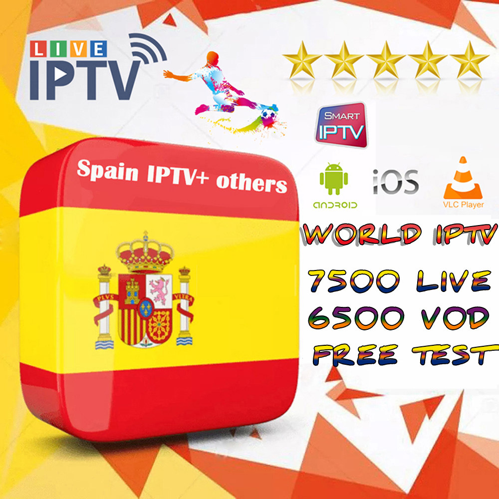 8000+Live Europe IPTV Subscription Android Box  Spain French Dutch Arab Portugal UK  Free Test Adult Channel M3U MA9 Ssmart TV