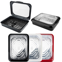 Portable 2 In 1 Casserole Pan Carrier Takeout Use Fits Half Size Foil Tools PP Stay Cool Handles Tin Tray Box